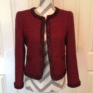 Alice + Olivia Red Kidman Metallic Jacket